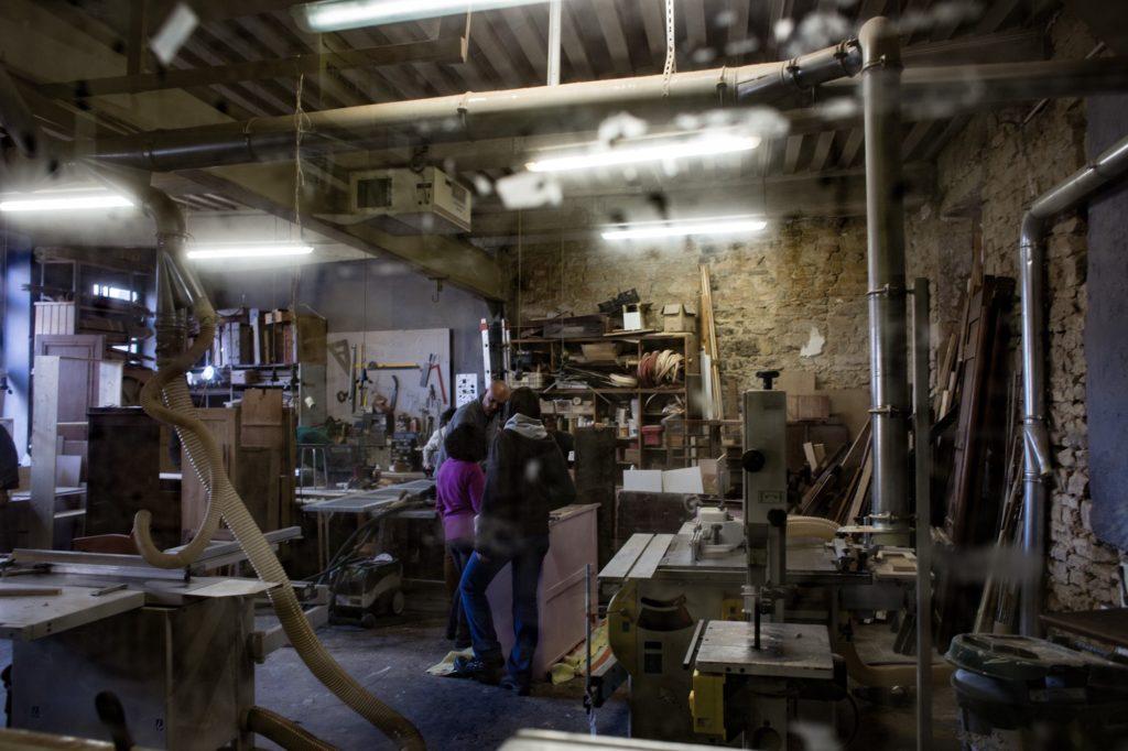Photo L'atelier de menuiserie ébénisterie du Grenier site Croix-Rousse