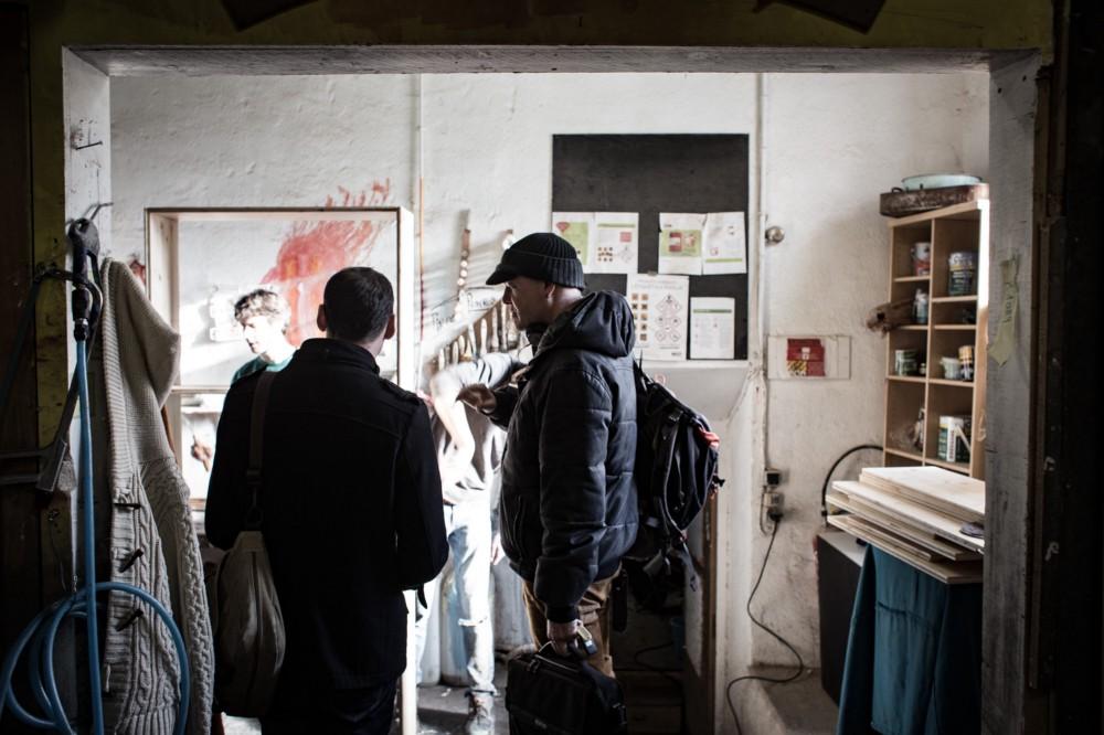 Photo visite de la menuiserie de Lahso